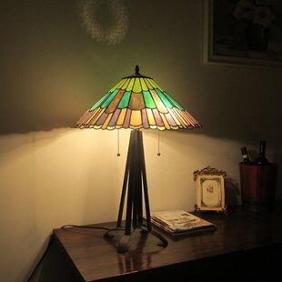 Tanner Tiffany 3 Light Geometric 26 Table Lamp