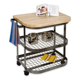 Premier Kitchen Cart with Wood Top Enclume