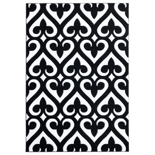 Best Reviews Zabala Black/White Area Rug By Orren Ellis