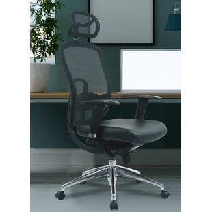 High-Back Mesh Executive Chair With Lumbar Support By Symple Stuff