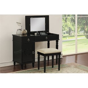 Harriet Bee Ed Vanity Set with Mirror