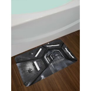Dark Dark Grey Outer Space Bath Rug