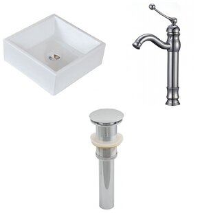 Compare & Buy Ceramic Square Vessel Bathroom Sink with Faucet ByAmerican Imaginations