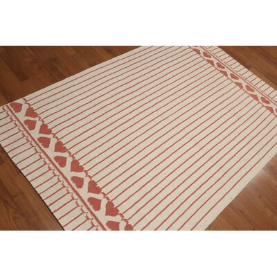 Reversible Hand Knotted Wool Ivory