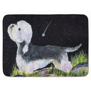 Starry Night Dandie Dinmont Terrier Memory Foam Bath Rug by East Urban Home Discount