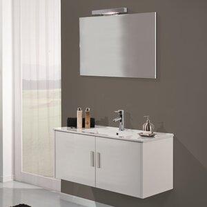 Urban Designs 100 cm Wandmontierter Waschtisch Mali mit Spiegel, Armatur und Schrank