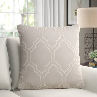 Gracie Oaks Fritch Script Initial And Date Laurel Wreath Throw Pillow Cover Wayfair