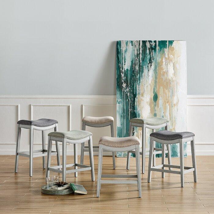 Pleasing Taryn Fabric Bar Counter Stool Theyellowbook Wood Chair Design Ideas Theyellowbookinfo