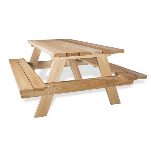 all things cedar cedar picnic table wayfair rh wayfair com cedar picnic table with benches cedar picnic table diy
