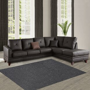 Brayden Studio Pensford Leather Sectional