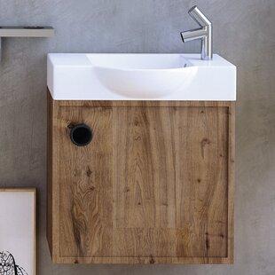 WS Bath Collections Minimal Ceramic Ceramic Rectangular Vessel Bathroom Sink with Overflow