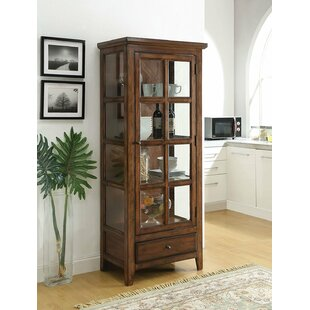Charmine Wooden Lighted Curio Cabinet by Gracie Oaks