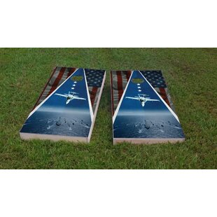 Custom Cornhole Boards Navy Jets Cornhole Game Set