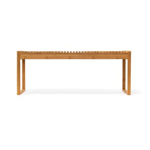 Best Reviews Bamboo Shoe Storage Bench By Rebrilliant