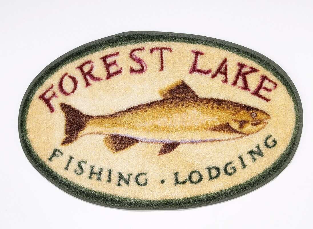Forest Lake Bath Rug from The Cabin Place!