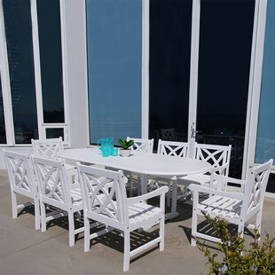 Mahler Outdoor 9 Piece Dining Set