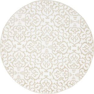 Mathieu Snow White/Beige Area Rug by Lark Manor