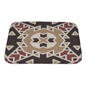 Creek Flat Ethnic Geometrical Ornament Tiles Bath Rug