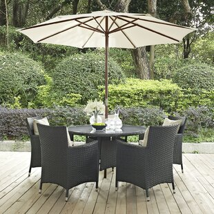 Tripp Outdoor Patio 7 Piece Dining Set with Sunbrella Cushions by Brayden Studio