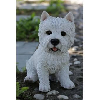 Alcott Hill Reynaldo Sitting Cairn Terrier Dog Statue | Wayfair
