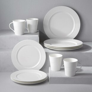 Tin Can Alley Seven Degree 12 Piece Dinnerware Set, Service for 4