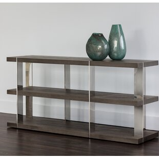 Carmella Smoked Console Table