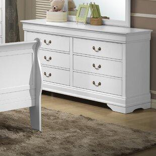 LYKE Home 6 Drawer Double Dresser