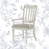 Ornithogale Upholstered Slat Back Arm Chair (Set of 2) by Lark Manor