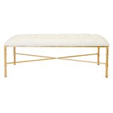 Bamboo Upholstered Bench by Worlds Away