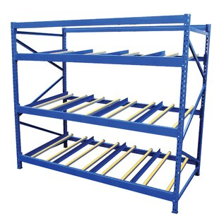 Vestil Carton Rack with Gravity Roll 3 Flow Levels