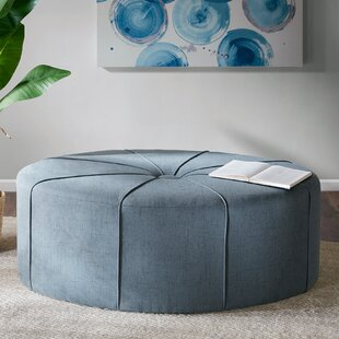 Riddle Oval Tufted Cocktail Ottoman