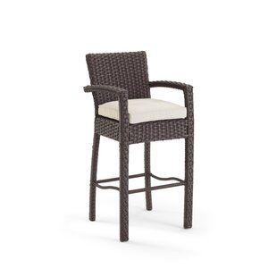 Aurora 47'' Patio Bar Stool with Cushions by Domus Ventures