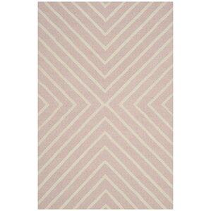 claro x pattern handtufted pinkivory area rug