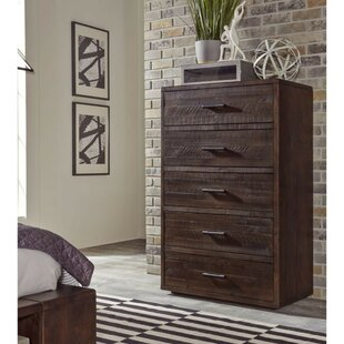 Bowker Slated Wood 5 Drawer Chest