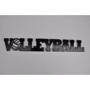 Metal Volleyball Word Wall Décor
