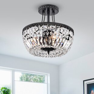 Aspinwall 3-Light Semi Flush Mount by Astoria Grand
