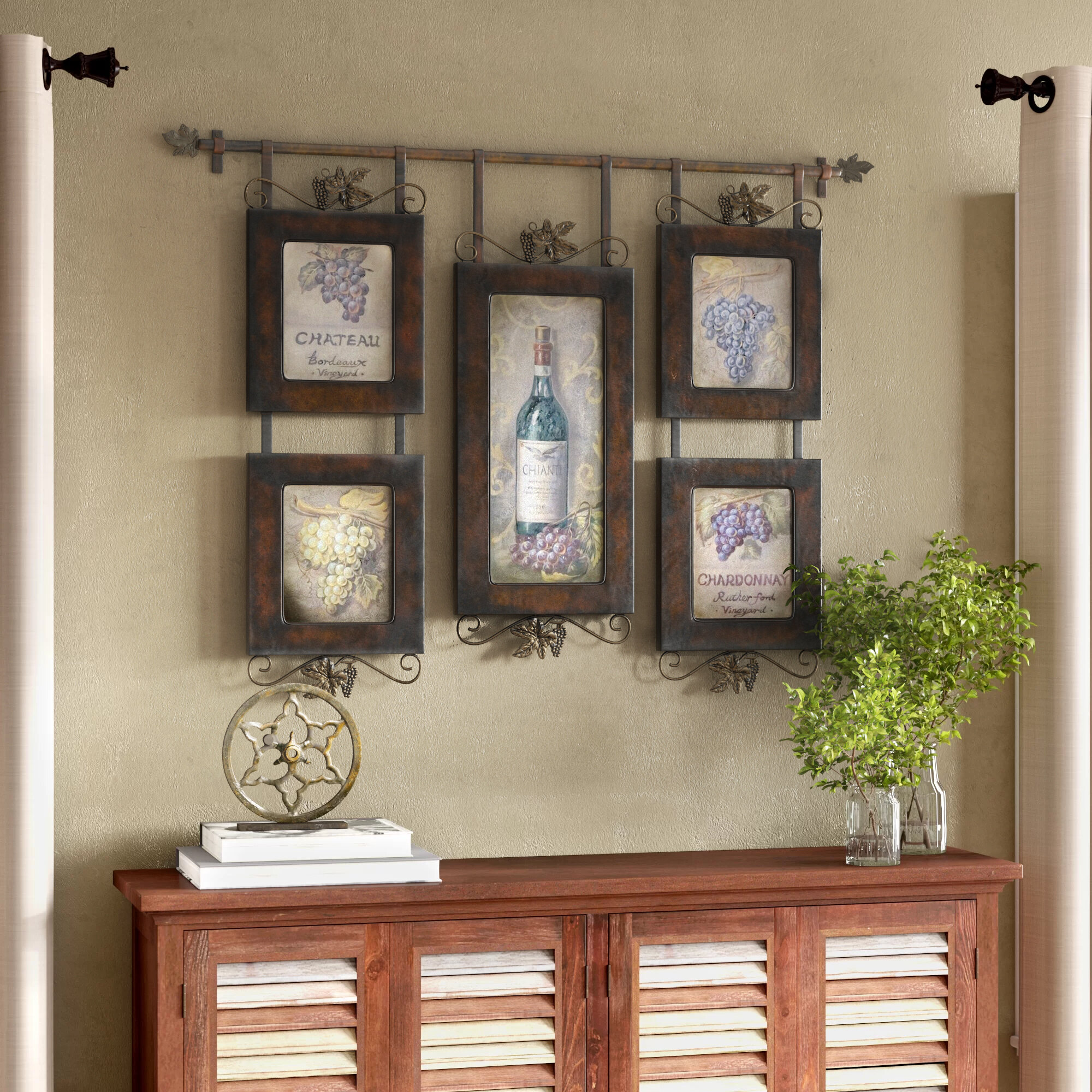 Darby Home Co Hanging Wine Wall Decor Reviews Wayfair
