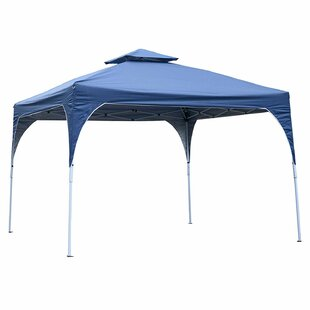 2- Tier Outdoor Folding Sun Shade 10 Ft. W x 10 Ft. D Steel Pop-Up Canopy by Outsunny