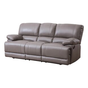 Loper Leather Reclining Sofa by Red Barrel Studio