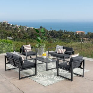 Maud Outdoor 6 Piece Sofa Seating Group with Cushions
