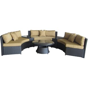 Fairchild 6 Piece Sunbrella Sectional Set with Cushions