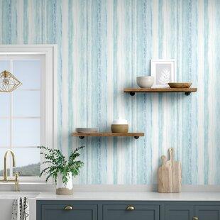 """Deidre Stripe 16.5' L x 20.5"""" W Abstract Peel and Stick Wallpaper Roll"""