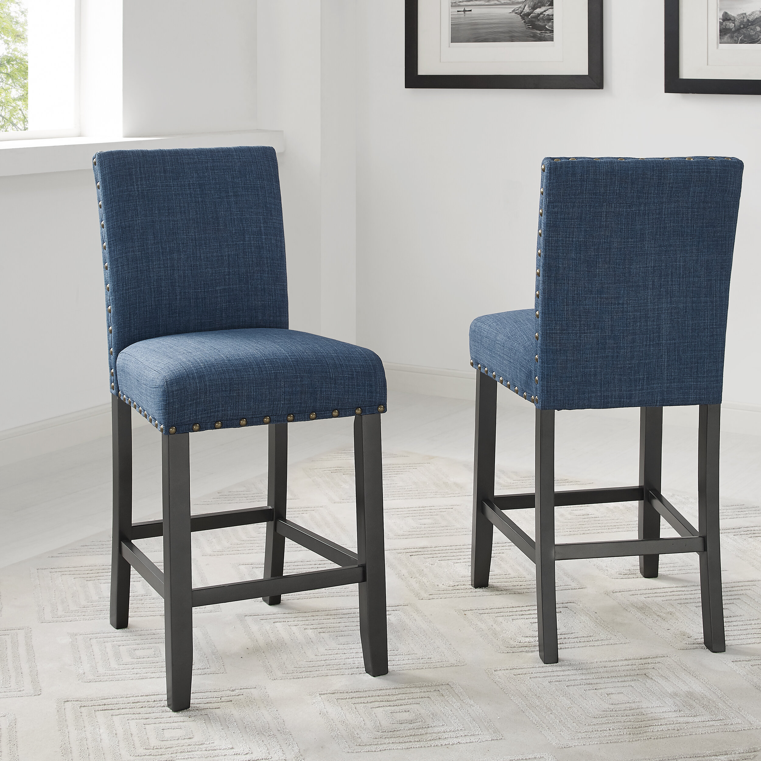 Picture of: Blue Counter 24 27 Bar Stools Counter Stools You Ll Love In 2020 Wayfair