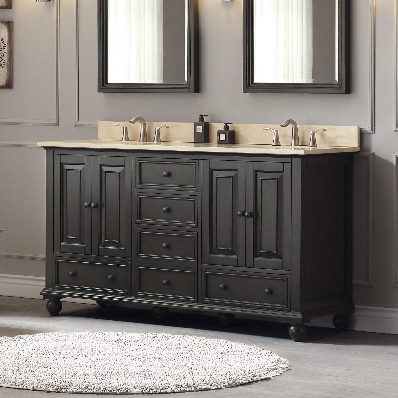 . Samoset 61  Double Modern Bathroom Vanity Set