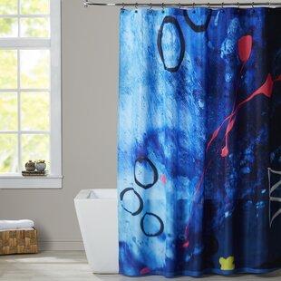 Deb McNaughton XO Splatter Single Shower Curtain