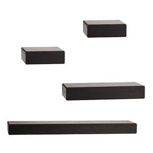 Chunky Ledge 4 Piece Floating Shelf Set