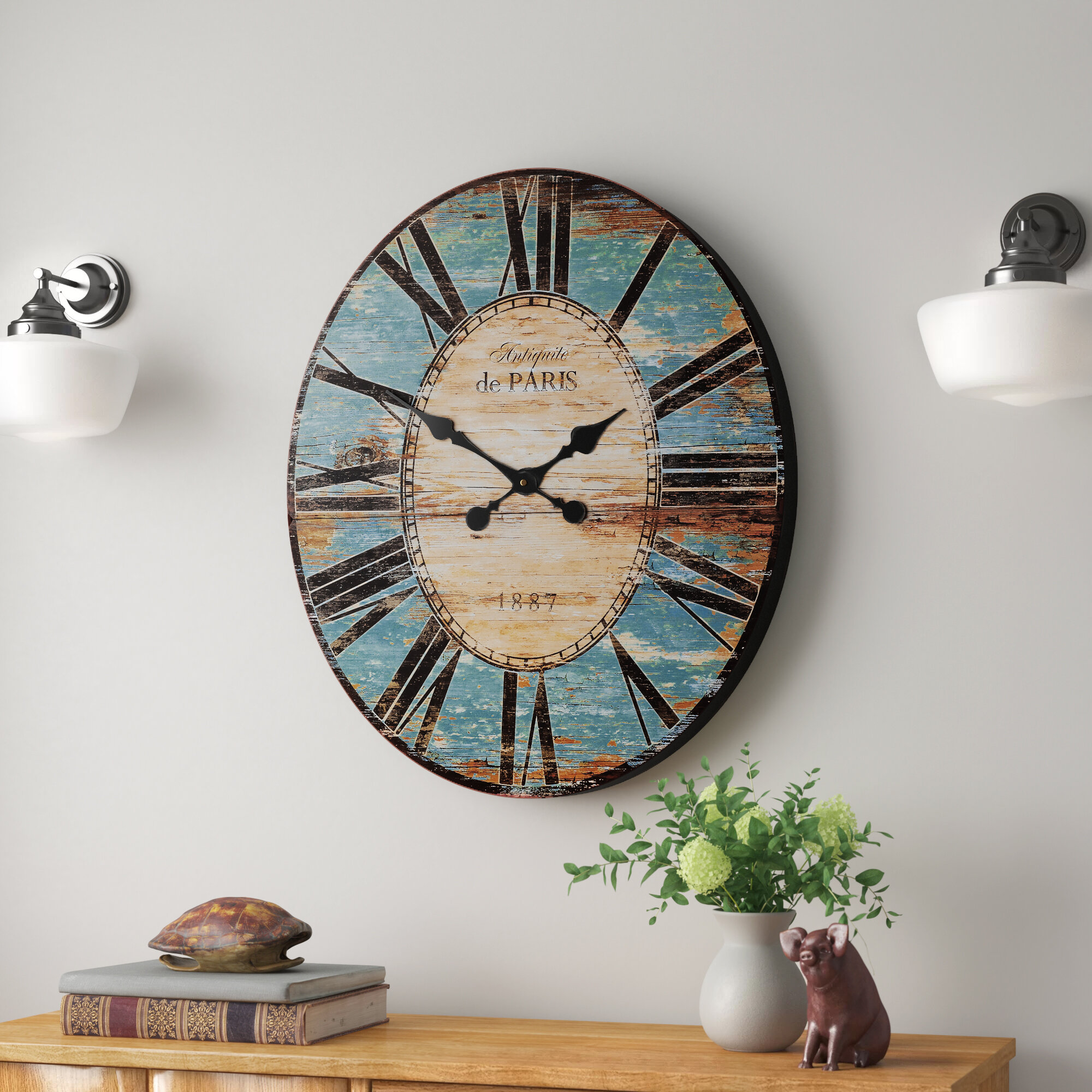 Andover Mills Oversized Whipe 24 25 Wall Clock Reviews Wayfair Ca