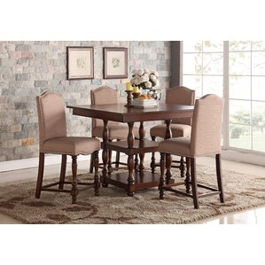 Riehle 5 Piece Counter Height Dining Set by Darby Home Co