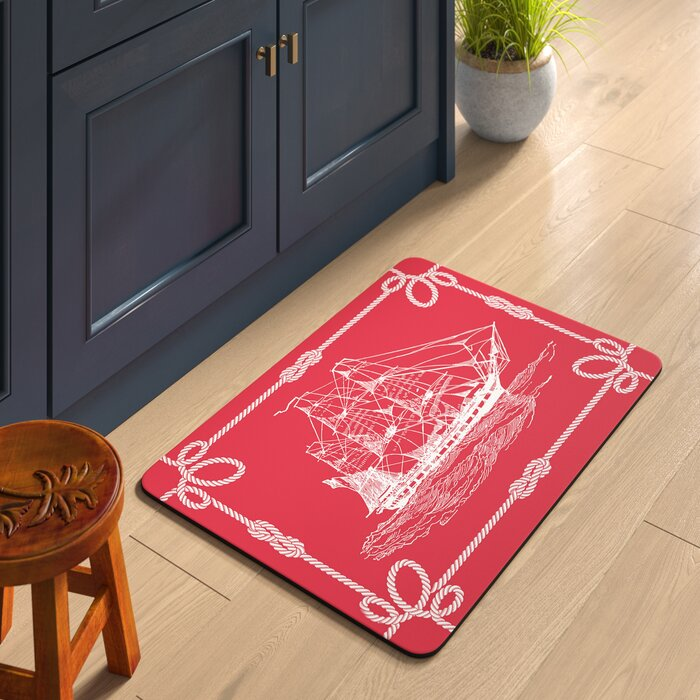 Jacksonville Coral Ship Kitchen Mat