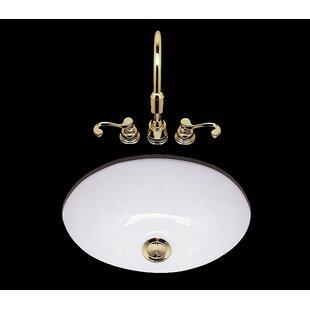 Bates & Bates Teri Ceramic Circular Drop-In Bathroom Sink